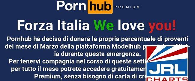 Pornhub Donates free Premium Service to Italy