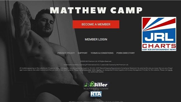 Matthew Camp new gay porn website