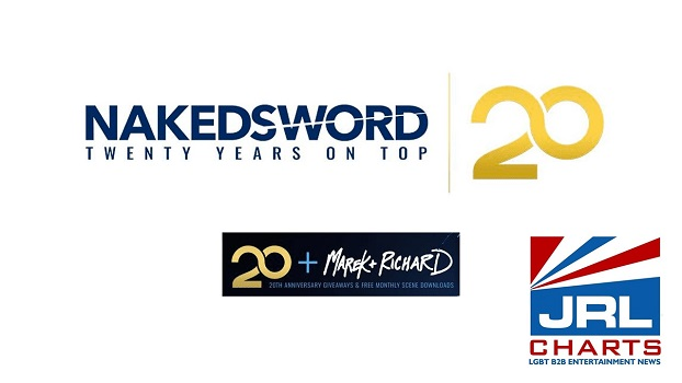 NakedSword Sets 20th Anniversary Giveaways for May-JRL-CHARTS