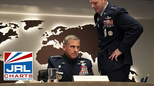 Noah Emmerich and Steve Carell in Space Force (2020)