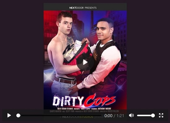 Dirty Cops DVD nsfw trailer - next door studios