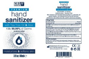 M.D. Science Lab Premium OTC Hand Sanitizer with Tea Tree Oil & Aloe