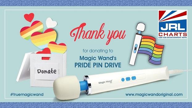 Magic Wand' Vibratex Raises $6K in PRIDE Pin Drive