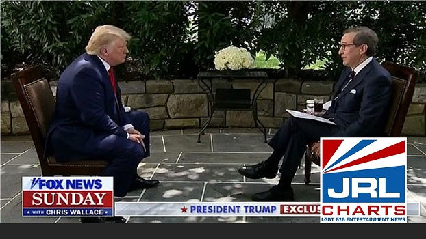 Trump Intense Interview-Chris Wallace-2020-07-20-jrl-charts-LGBT-Politics
