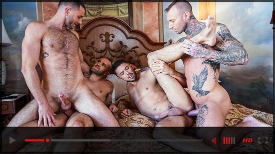Dylan James-Raw Foursome-gay-porn-scene-Lucas-Entertainment