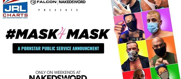 Falcon-NakedSword Unveils-Labor Day-Weekend PSA Mask4Mask-jrl-charts-headline-news