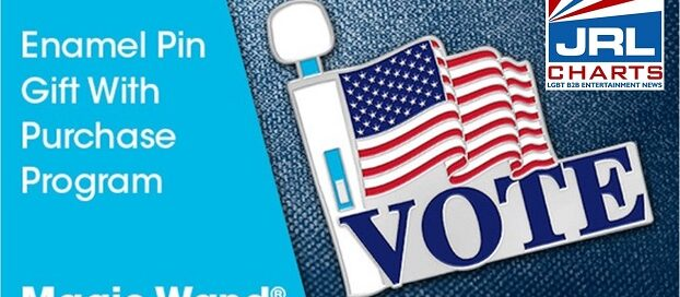 Magic Wand offers Patriotic Enamel Pin to 'Promote the Vote'