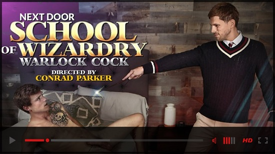 Next Door School Of Wizardry-Warlock Cock -gay-porn-movie-trailer