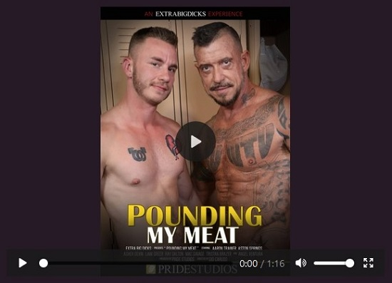 Pounding my meat gay porn movie trailer-pride studios