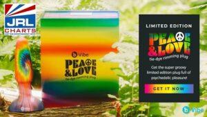 b-Vibe streets New 'Peace & Love' Tie-Dye Rimming Plug-male-sex-toys-jrl-charts