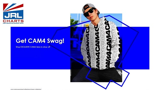 CAM4 Swag Store Featuring New Apparel & Merch Goes Live--jrl-charts