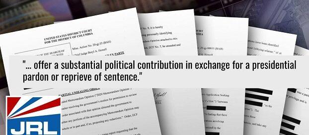 DOJ Investigating-White House-Bribery-For-Pardon-Scheme