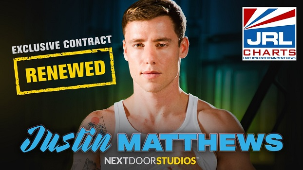 Gay Adult Film Star Justin Matthews Renews Contract Next Door Studios-2020-12-07-jrl-charts