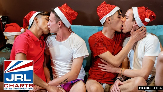 Helix-Studios-Red Hot Festivities Part 2-gay-porn-Xmas Foursome Premier