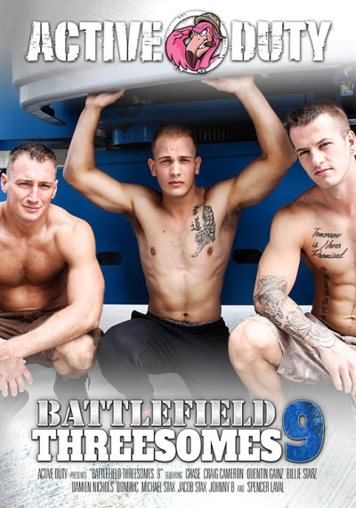 Battlefield Threesomes 9 DVD front cover-Active Duty-Pulse