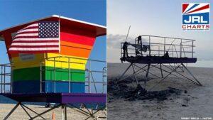 GoFundMe Announced for Long Beach Rainbow Lifeguard Tower Burning