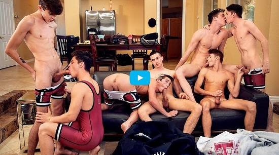Helix Academy Wrestling 6-gay porn movie trailer-Helix-Studios