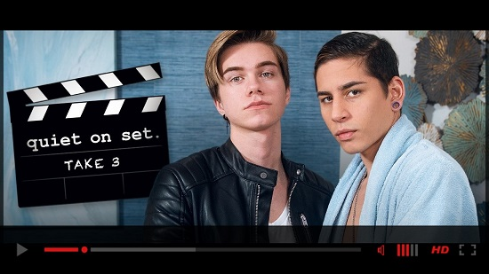 Helix Studios-Quiet On Set-Take Three-Jordan-Lake-and-Aiden-Garcia-gay-porn-movie