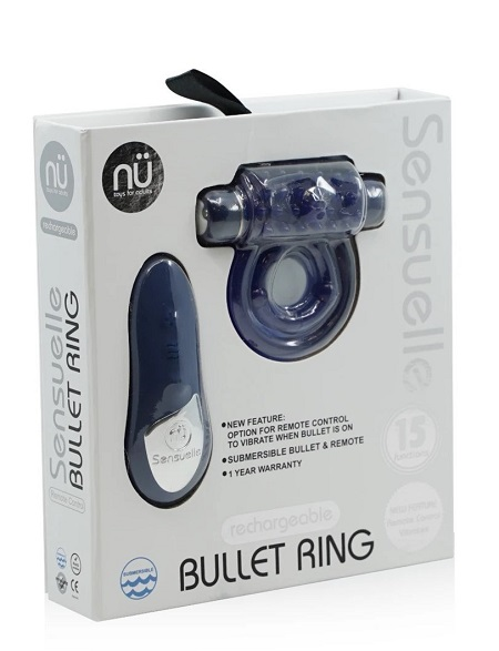 Nü Sensuelle Introduces Remote Control 15-Function Bullet USB Rechargeable Cock Ring-Packaging