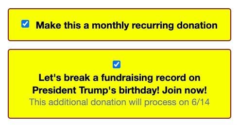 Trump Donation Scam-2020 Campaign