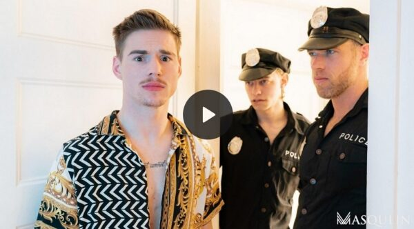 Alex Mecum, Leo Louis and Lev Ivankov in The Cops Want In-gay-porn-trailer
