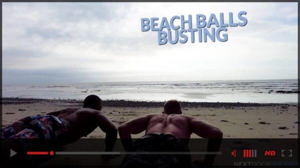Beach Ball Busting gay porn movie trailer-Next-Door-Studios