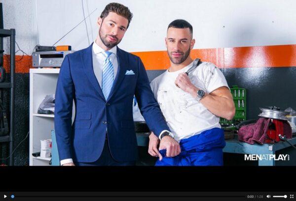 MenAtPlay-Suited Car Mechanic-movie trailer gay-porn
