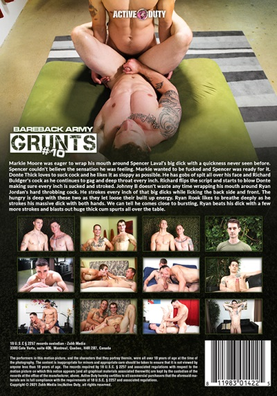 Bareback Army Grunts 10 DVD-back-cover-active duty