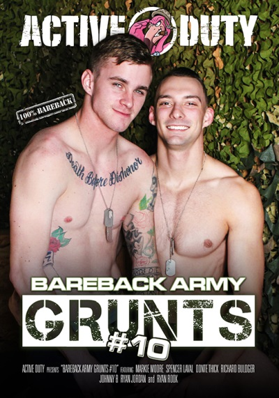Bareback Army Grunts 10 DVD-front-cover-active duty