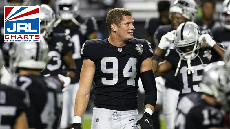 Carl Nassib NFL Jersey becomes NFL's Top Seller after Coming Out Gay-JRLCHARTS
