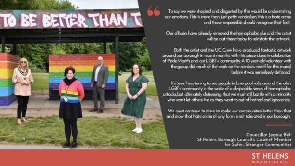 St Helens Bourough Council Responds to LGBTQA Defacement (Click to Enlarge)