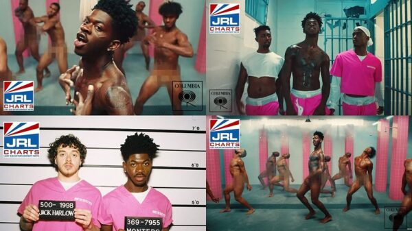 Lil Nas X-featuring-Jack-Harllow-Goes Nude in his NEW - Industry Baby MV