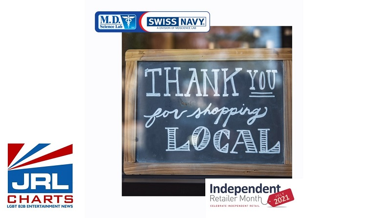 Swiss Navy Lubricants Supports Independent Retailer Month-2021-07-07-JRL-CHARTS
