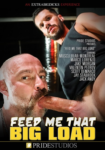 Feed Me That Big Load DVD-front-cover-Extra Big Dicks-Pride Studios