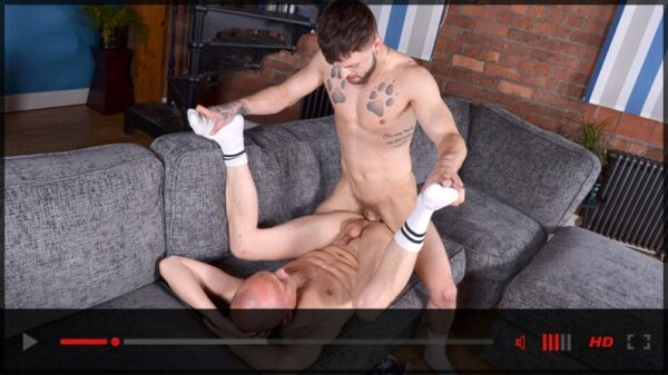 Koby Lewis tops Danny Woo gay porn movie trailer-Blake Mason