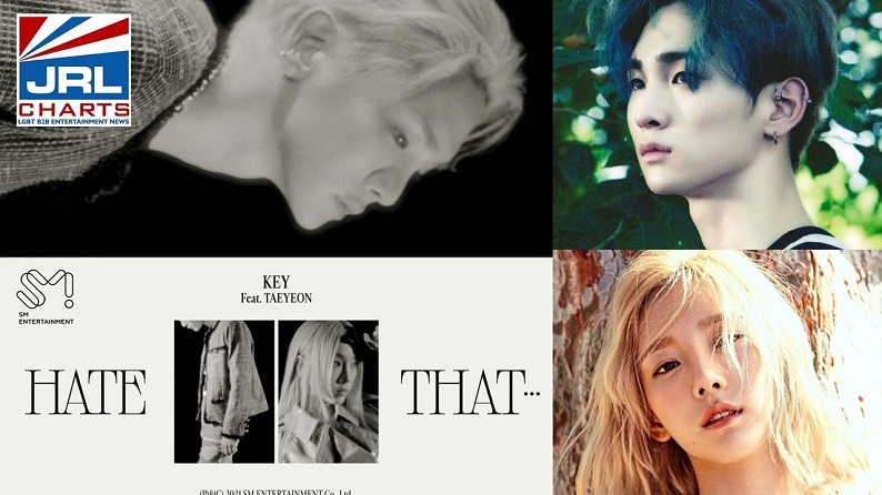 SHINee's Key ft Taeyon drop their sick new Hate That Music Video-SMTown-2021-JRL-CHARTS