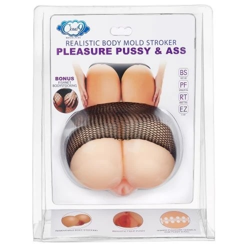 Cloud 9 Pleasure Pussy Realistic Ass & Pussy Body Mold Stroker-Packaging