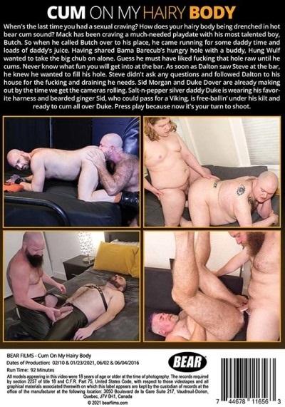Cum On My Hairy Body DVD-back-cover-Bear Films-Pulse-2021