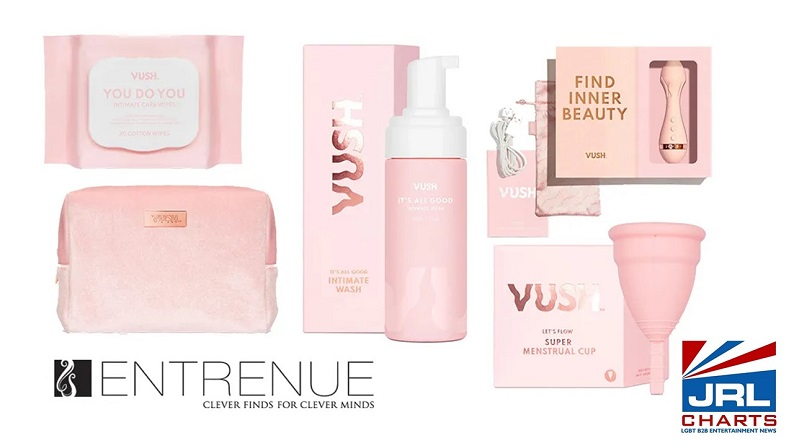 Entrenue ships Bright 'Vush' Sexual Wellness Products from Fresh New Brand