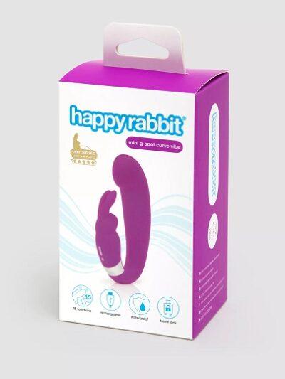 Happy Rabbit G-Spot Clitoral Curve Vibrator Purple