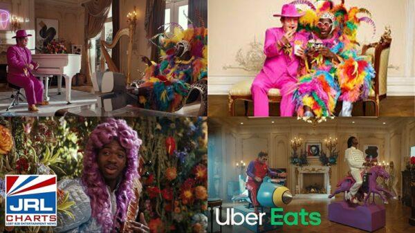 Lil Nas X and Elton John - Uber Eats Commercials Go Viral-2021-09-21-jrl-charts-screenclips