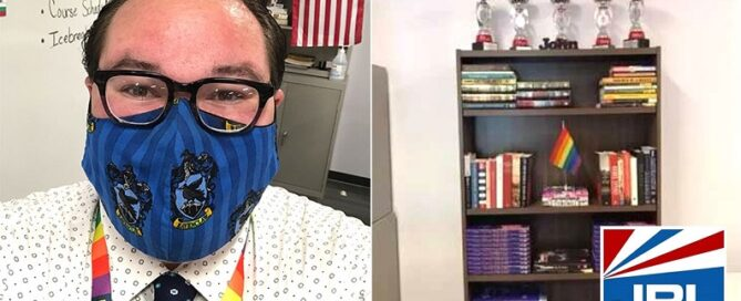 Teacher Resigns After Being Forced to Remove Pride Flag from bookshelf-2021-09-09-JRL-CHARTS